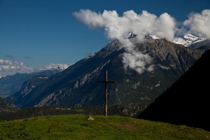 Alp Bovine farm and rest stop is located near Champex , Switzerland © 2010 Nick Katin