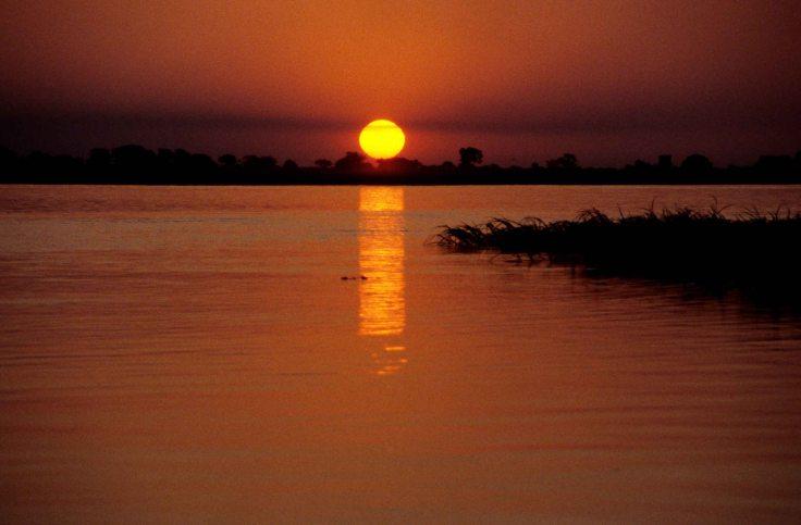 Sunset on the Chobe river in Botswana ©2013 Nick Katin