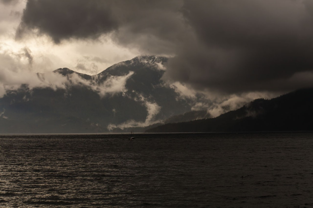Misty Mountains near Bellingham WA at the beginning of the Alaska marine highway and the inside passage.©2013 Nick Katin