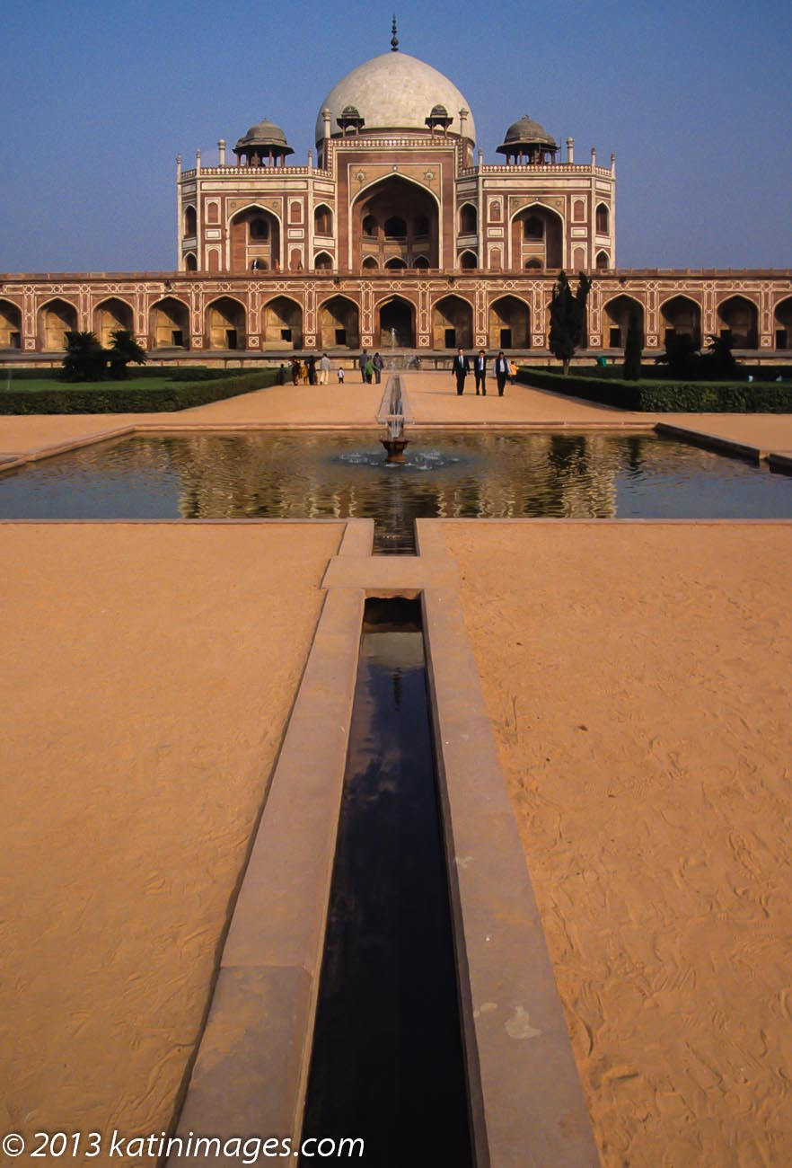 Humayun's tomb. The tomb of the Mughal Emperor Humayun which dates back to the 16th century and is in Delhi, India