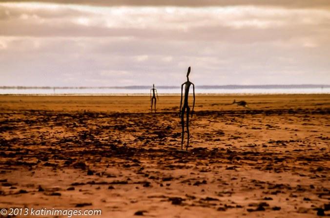 Antony Gormley Sculptures On Lake Ballard, 200km north of Kalgoorlie in Western Australia