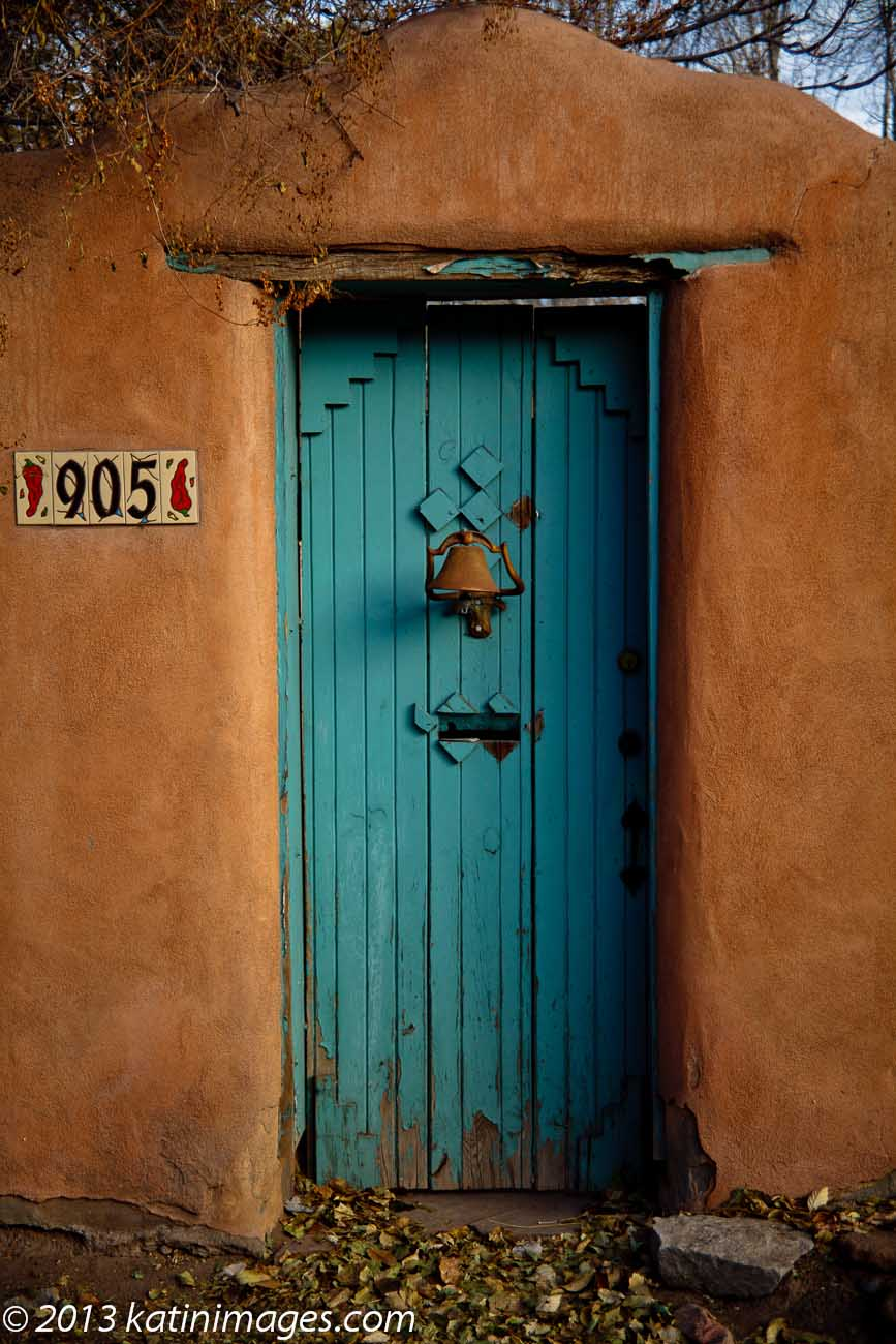 Doorway Canyon Road in Santa Fe, New Mexico, USA