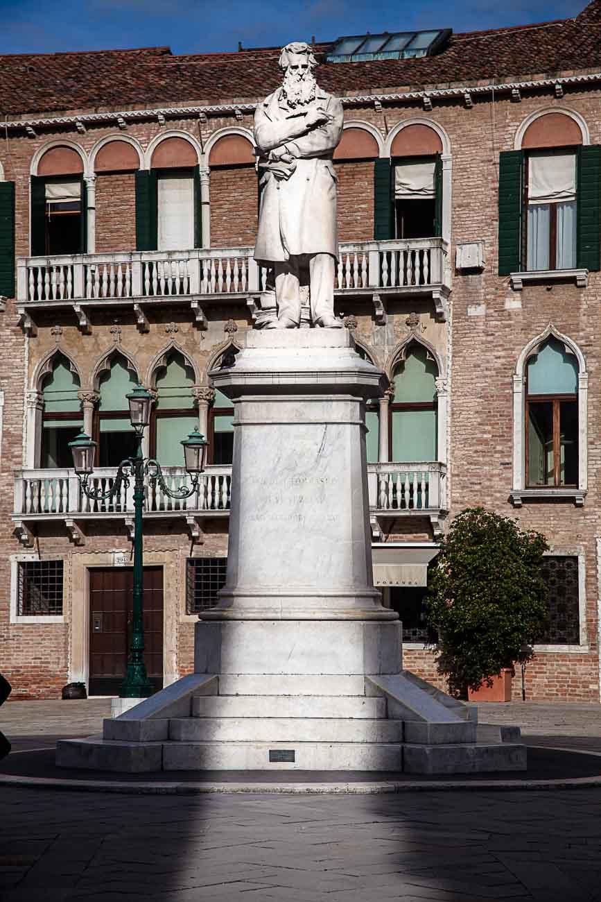 Statue of Niccolo Tommaseo, in Campo Santo Stefano in San Marco, Venice ©2013 Nick Katin
