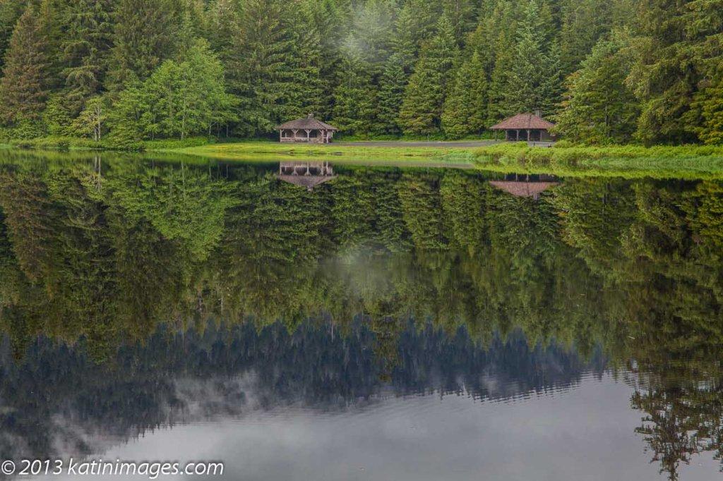 Ward lake near Ketchikan on the Alaska marine highway and inside passage.