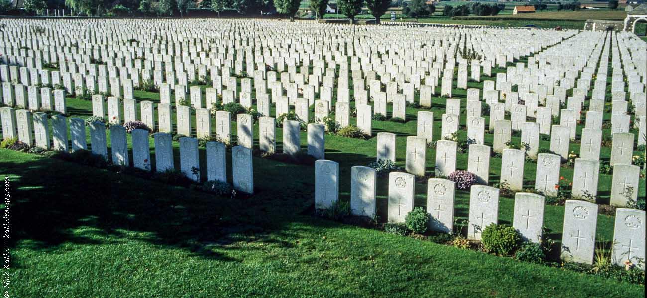 Tyne Cot Commonwealth War Graves Cemetery near Passendale, West Flanders, Belgium