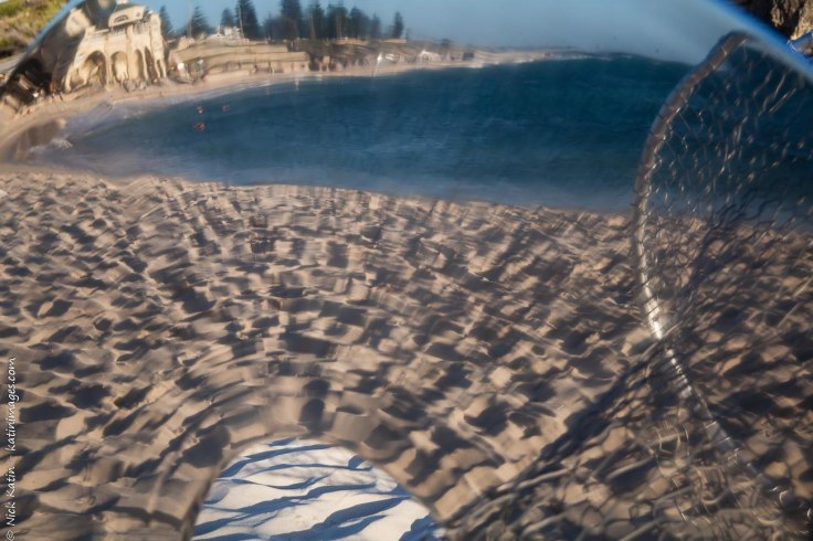 Cottesloe Beach reflection. Taken through the thought process piece of art on Cottesloe beach in Western Australia