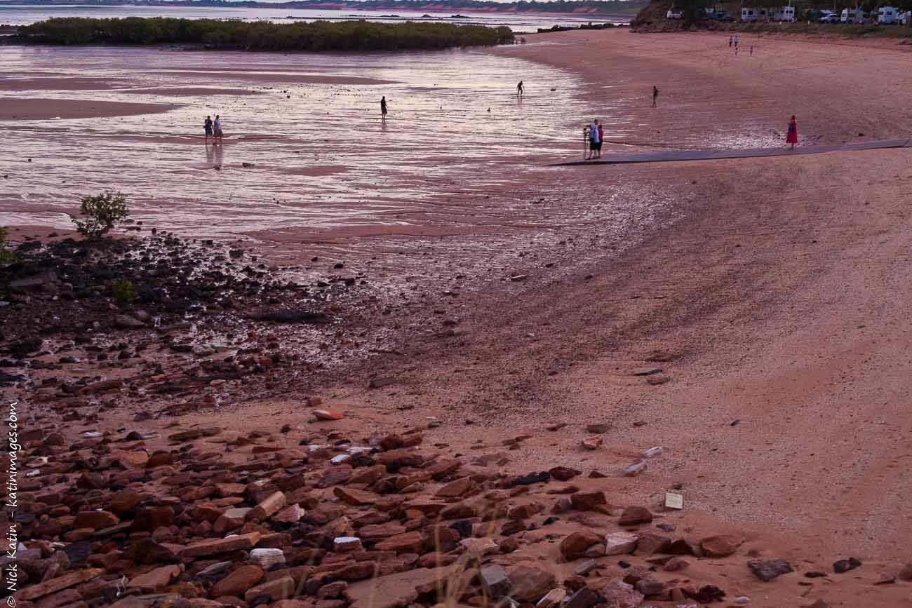 Broome's popular town Beach at dusk. Broome is North Western Australia's tourist hot spot with it's beaches and tropical ambience.