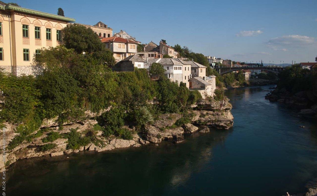 Mostar's Stari Most above the Neretva River