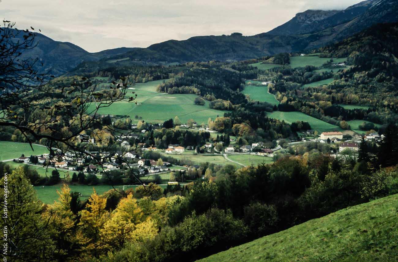 A small village in the mountains near Vienna Austria