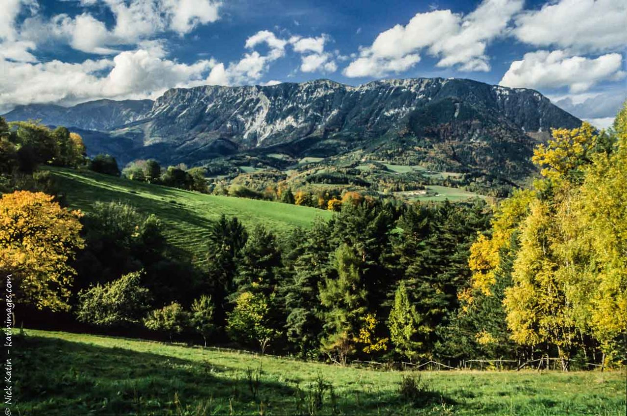 Autumn colours in the mountains. Some of the great scenery to be found near Vienna Austria