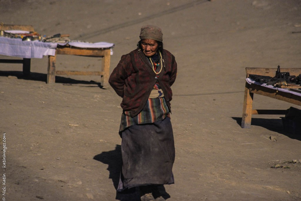 Old women at the Ranipauwa market. Ranipauwa Nepal is also called Muktinath after the sacred site nearby and close to the Tibet border.
