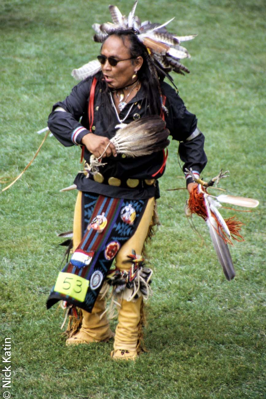 North american indian enjoying himself at a Pow Wow in Ontario, Canada