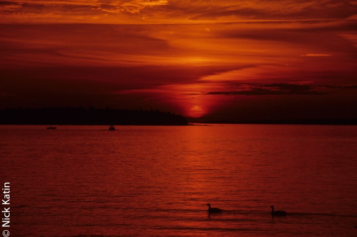 Sunset at near Tobermory on the Bruce Peninsula, Ontario, Canada