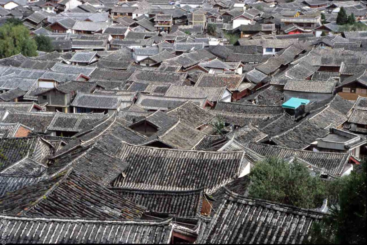 Roof tops in the old city of Lijang, china