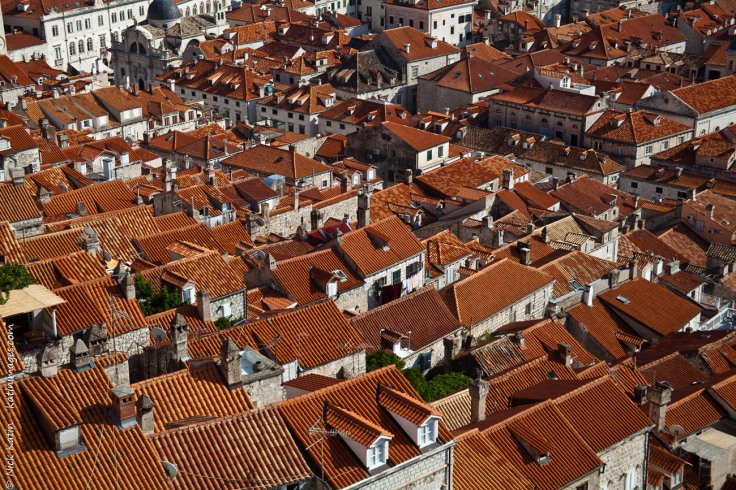 Rooftops of Dubrovnik's old town. Dubrovnik is the tourist centre of Croatia.