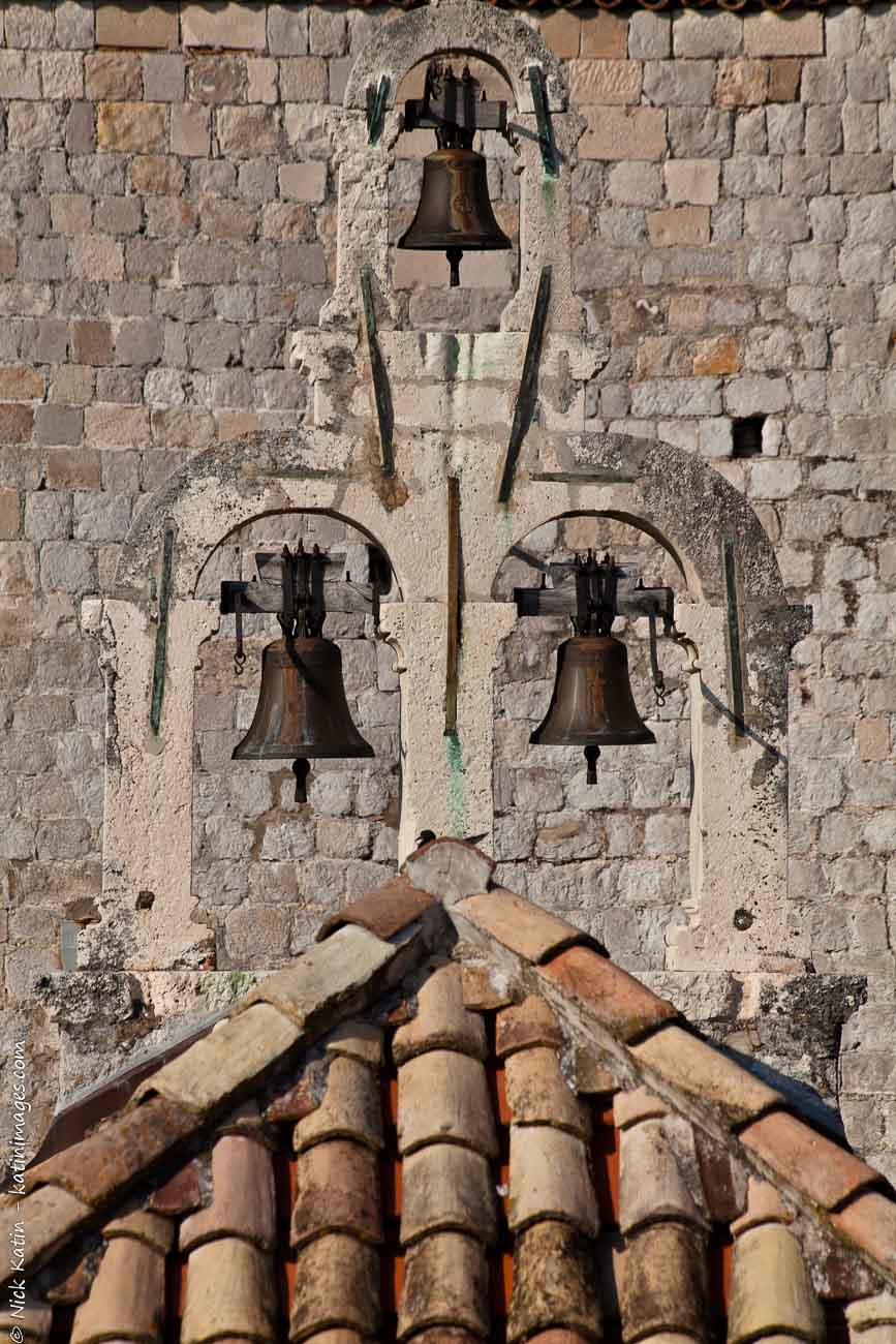 Bells at a church in Dubrovnik