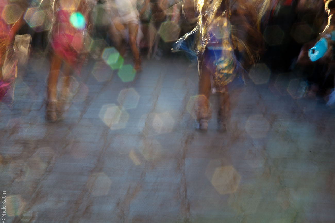 Native indian dancing at the Day of the Dead festival in San Miguel de Allende