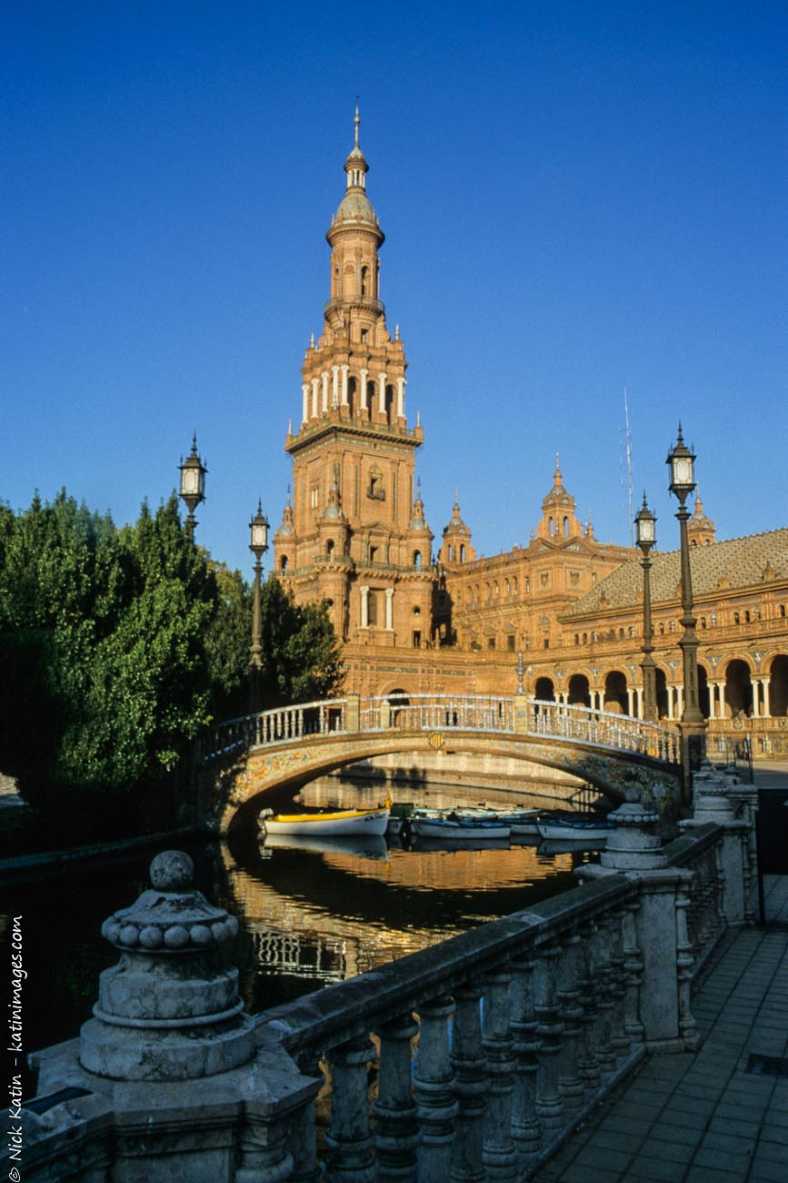 The Plaza de España, Spain Square, in English is a plaza located in the Parque de María Luisa, in Seville, Spain