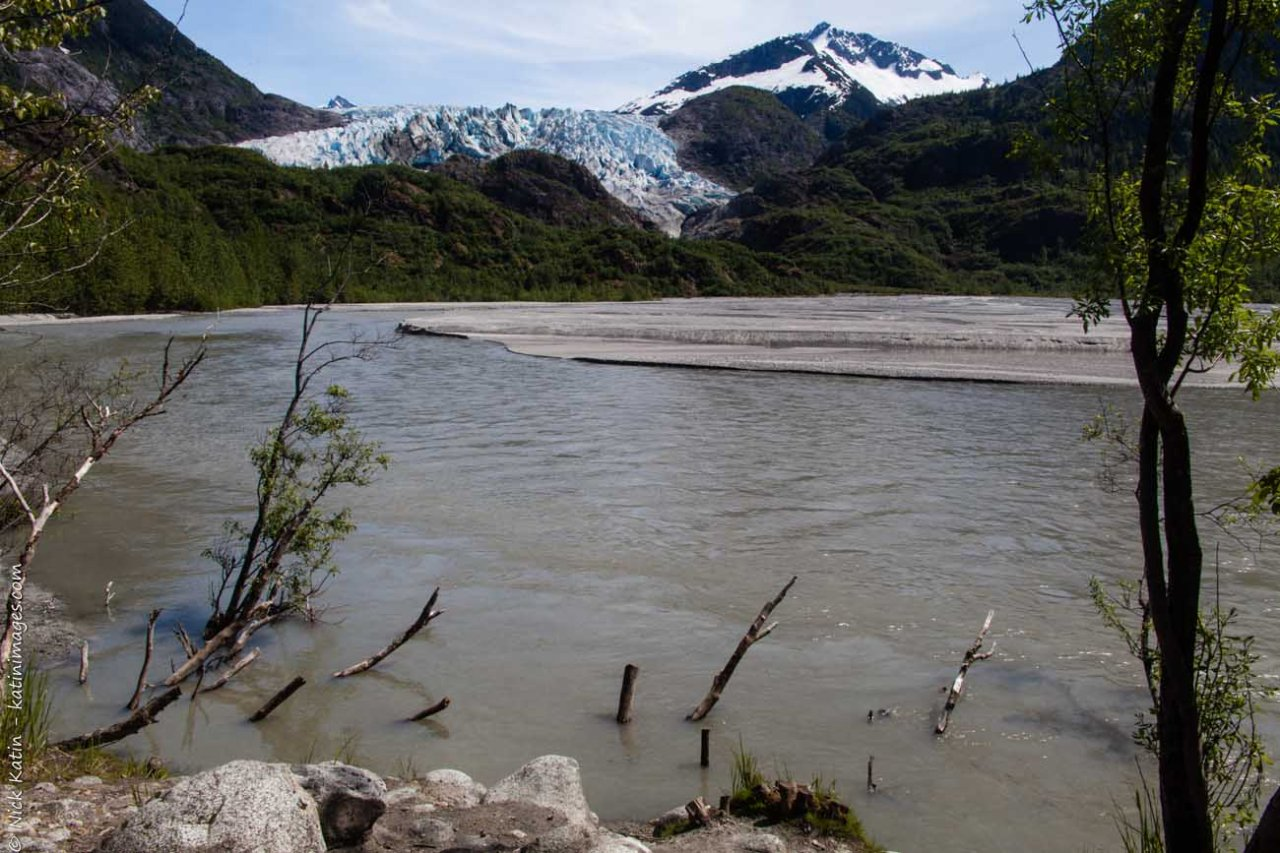Herbert Glacier near Juneau, Alaska. A smal Glacier that's part of the Juneau Icefield