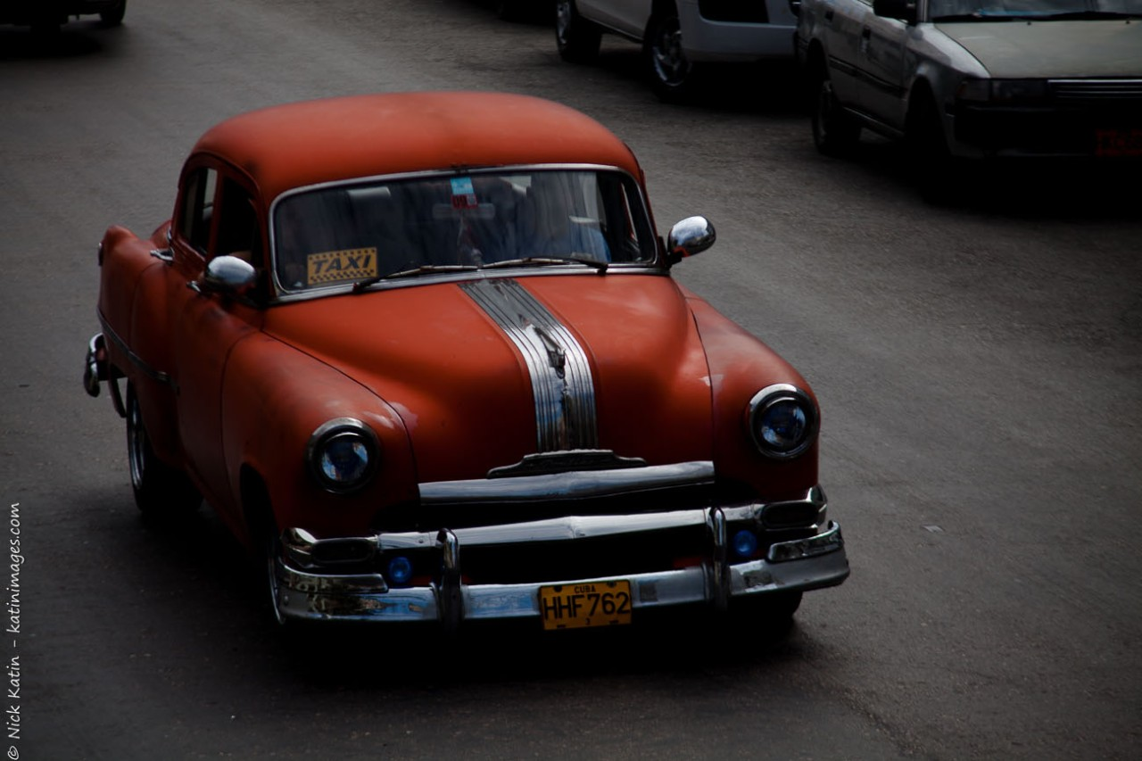 A Red Buick, one of Havana's many classic cars