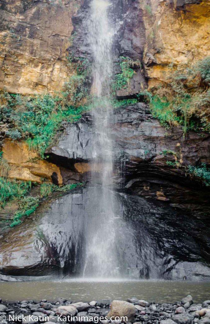 The Botsoela waterfall near Malealea in Lesotho