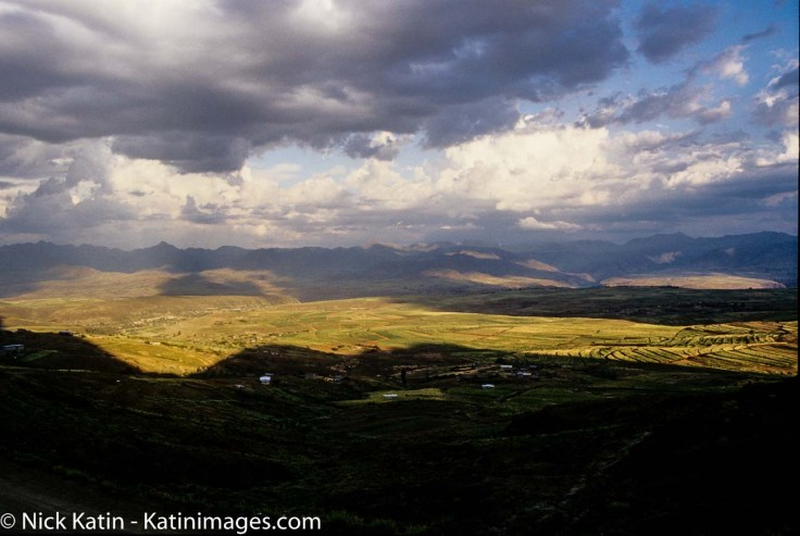 Maloti Mountains of Lesotho in the late afternoon light.