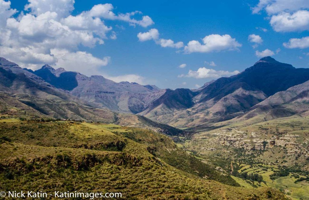 Maloti Mountains of Lesotho in the early afternoon light.