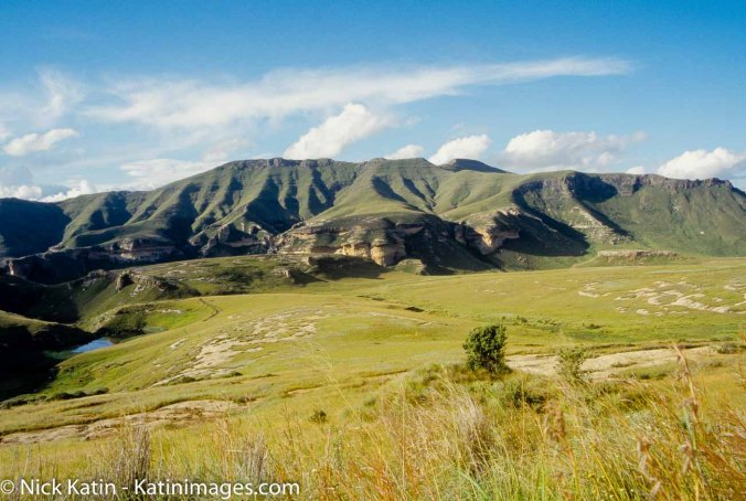 Some of the scenery found in the Golden Gate National Park in the Drakensberg ranges in Soth Africa