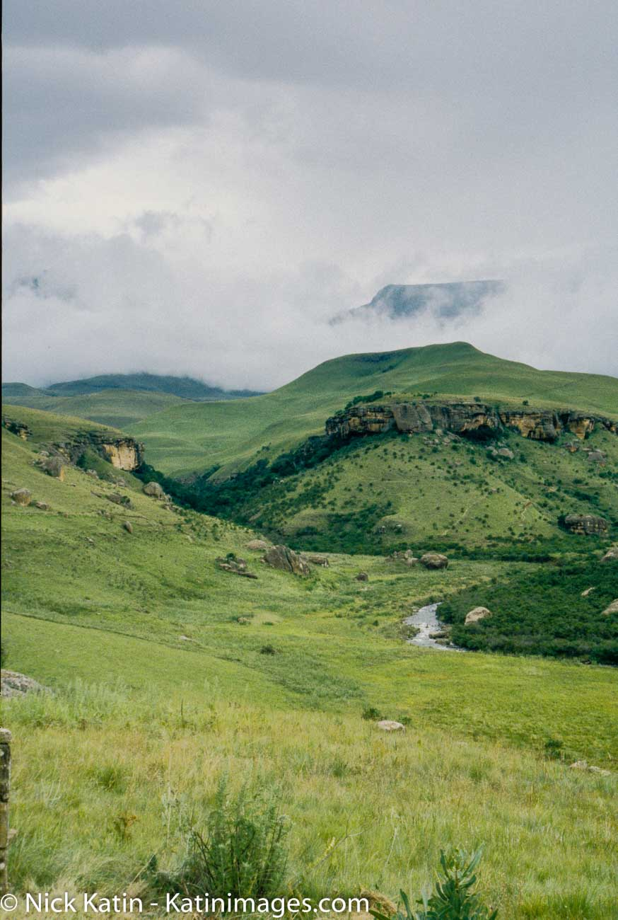 Lying at the southern end of the central Drakensberg Giant's Castle, which gets its name from the outline of the peaks and escarpment that combine to resemble the profile of a sleeping giant, is essentially a grassy plateau that nestles among the deep valleys of this part of the Drakensberg.