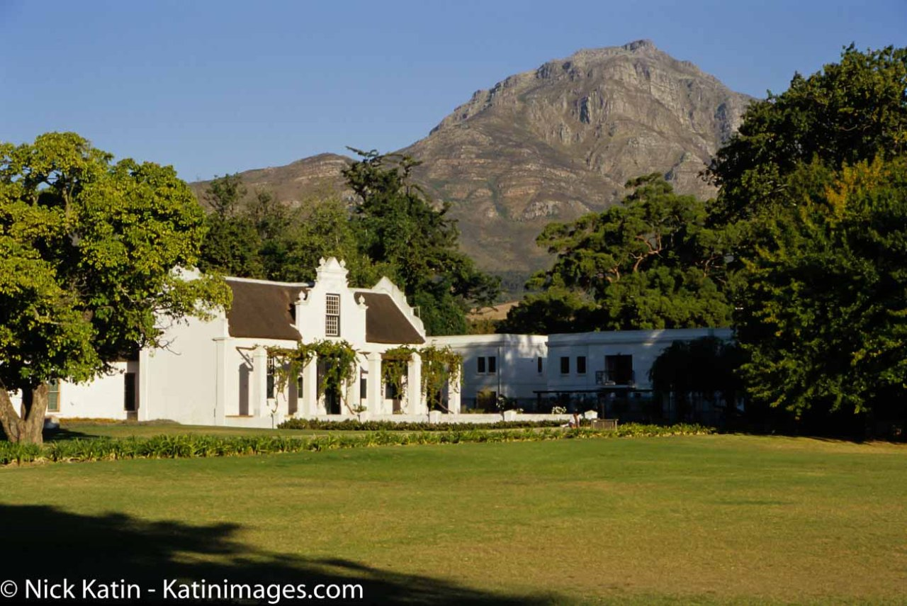 A small winery near Stellenbosch beneath the Stellenbosch Mountains