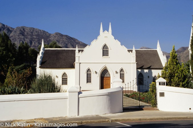 Dutch Reformed Church, in Franschhoek, South Africa
