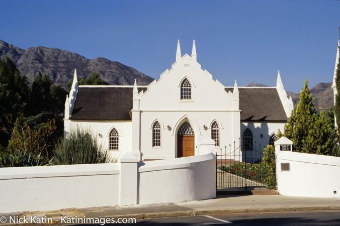 Dutch Reformed Church, in Franschhoek, South Africa
