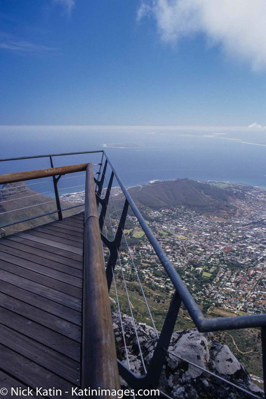 Cape Town from the Aerial Cableway lookout on Table Mountain .