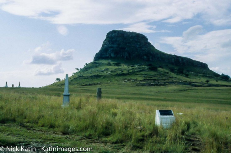 The Isandlwana battlefield where the Zulus destroyed 80% of the British forces in Kwazulu-Natal in South Africa
