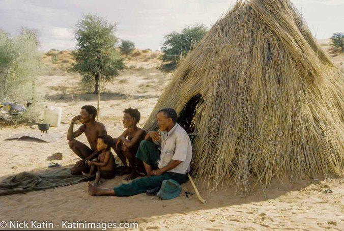 The San people or Bushmen of the Kalahari.
