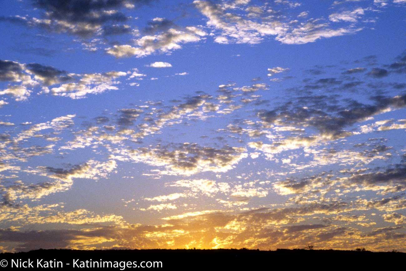Sunset over the Kalahari