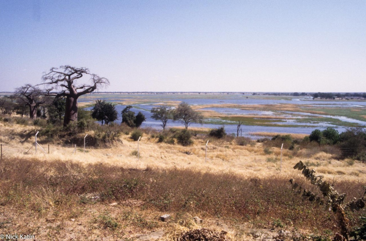 Ngoma bridge Border on the Chobe River Botswana and Namibia