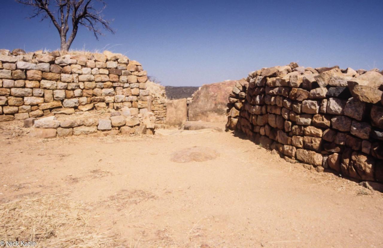 Khiami Ruins near Bulawayo in Zimbabwe