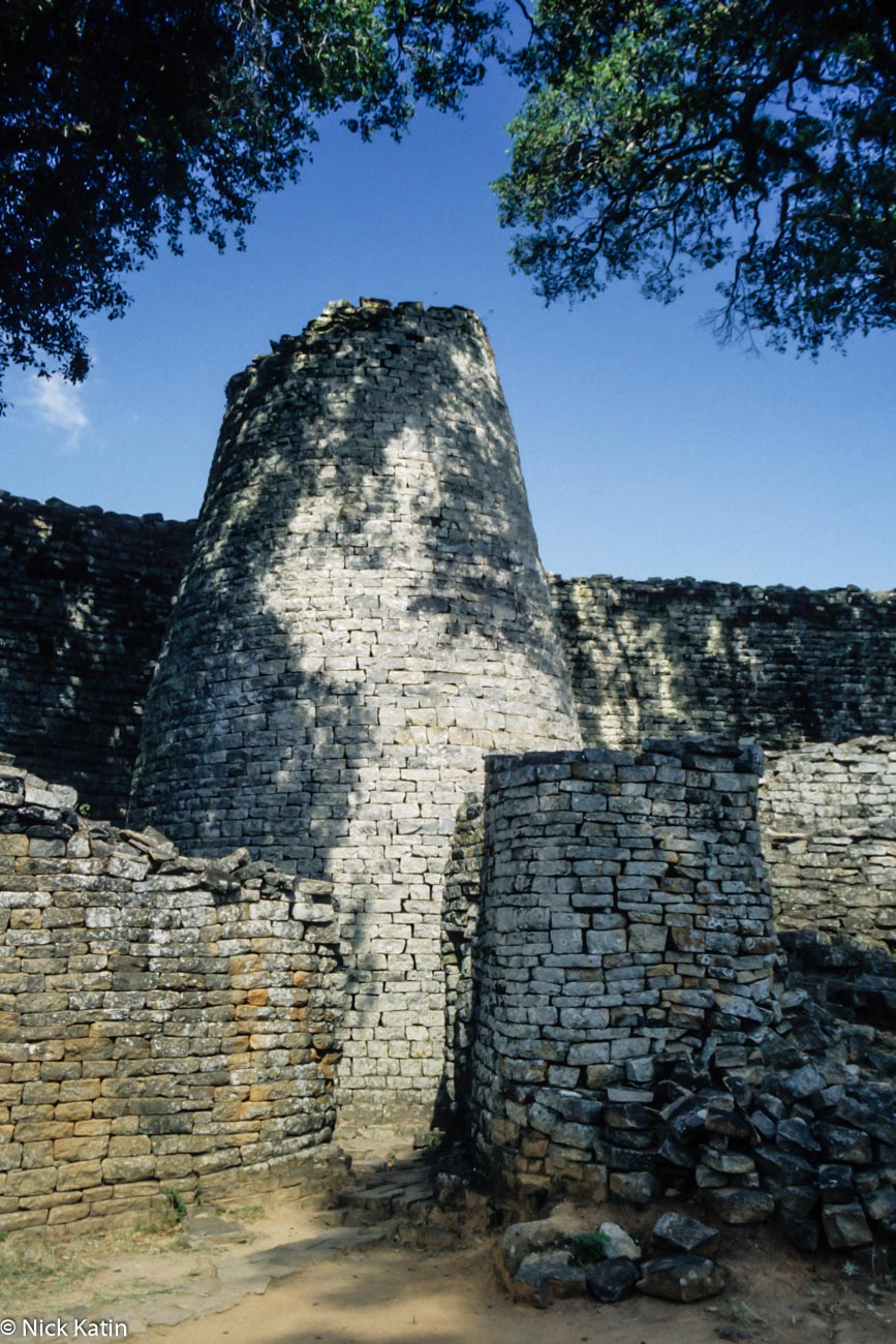 Tower in the Great Enclosure at the Great Zimbabwe National Monument near Mavingo, Zimbabwe