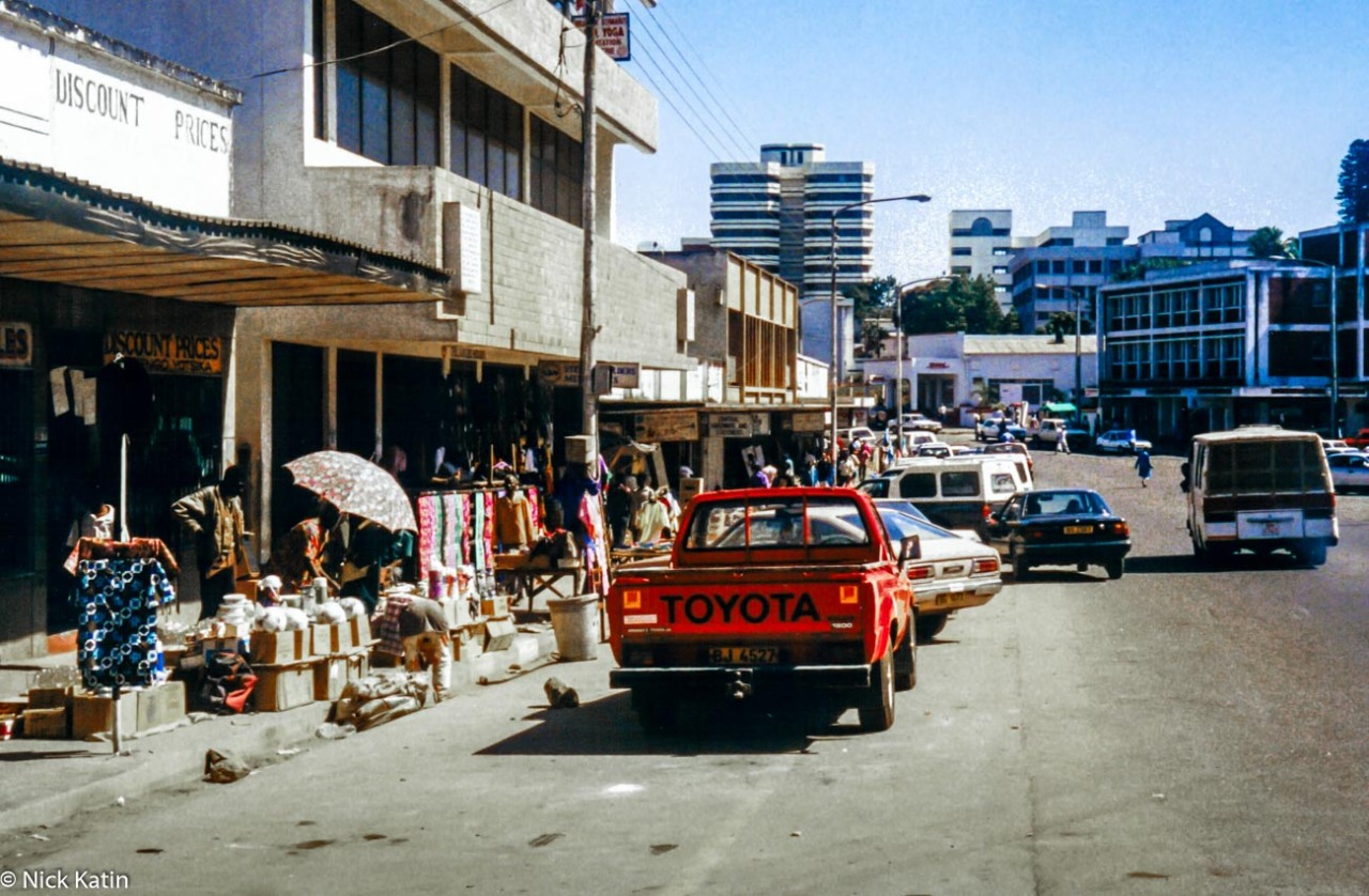 The main street in Blantyre, Malawi