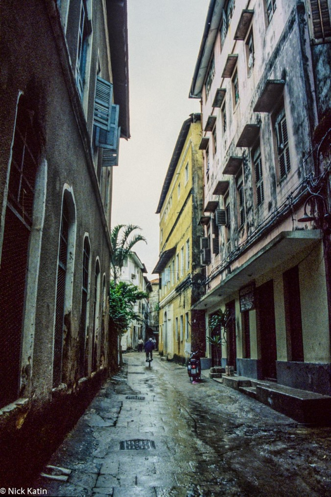 One of the many small streets in Zanzibar town, Tanzania