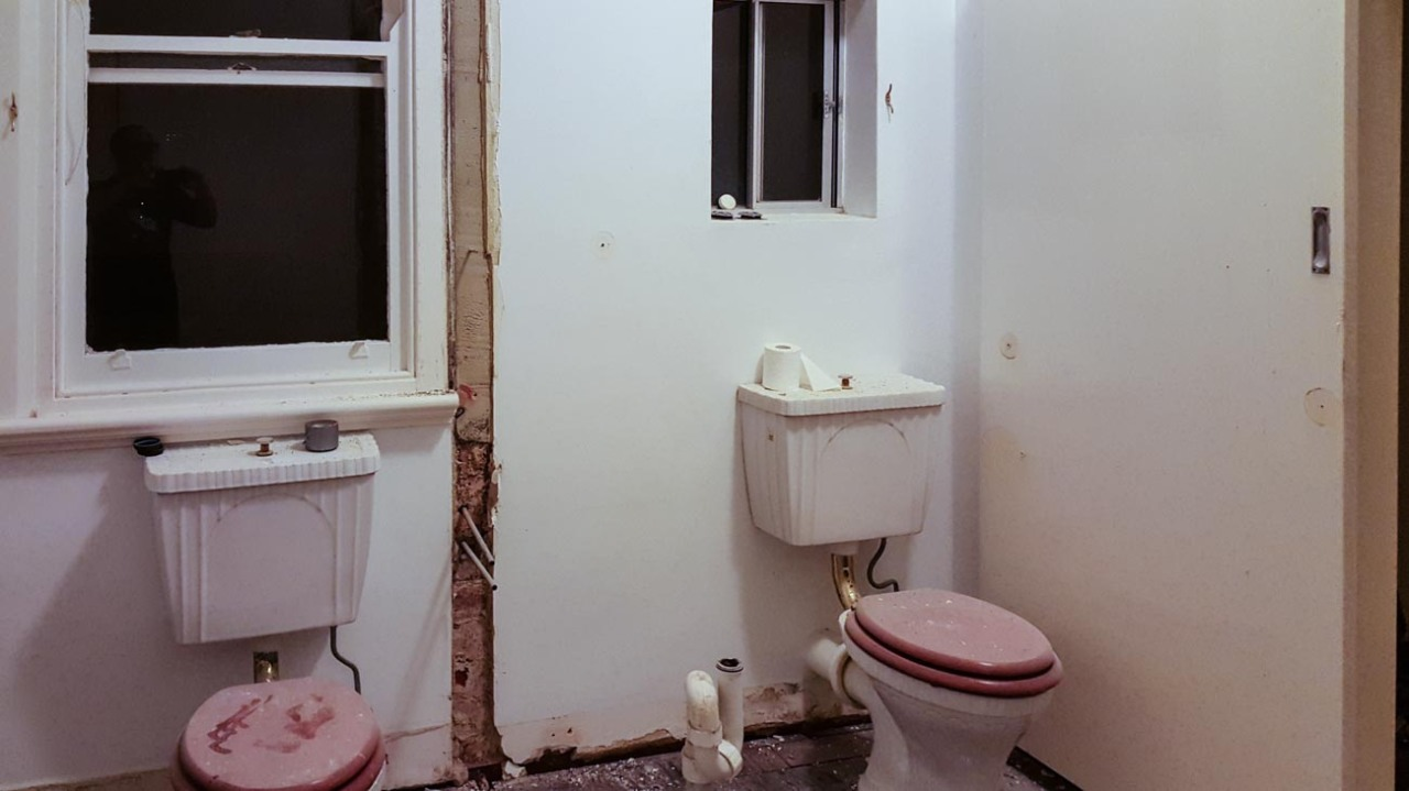 This was once two bathrooms!