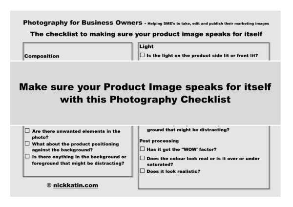 Make sure your product image speaks for itself with this photography checklist