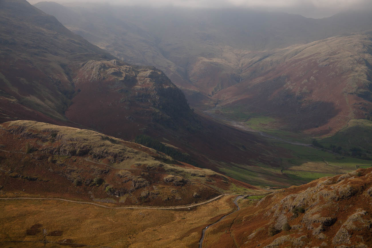 Great Langdale in the Langdale ranges ,Lake District, England