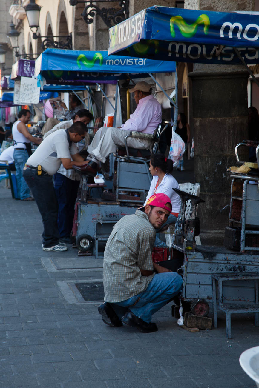 Shoeshine carts, Guadalajara, Mexico