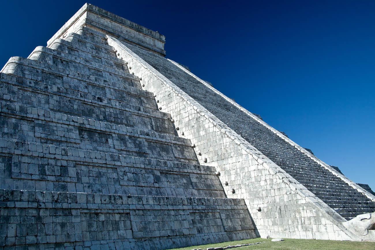 El Castillo the pyramid, at Chichen Itza the most famous Maya ruin in the Yucatan, Mexico