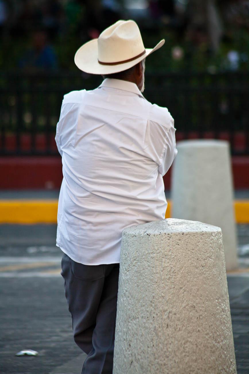 Leaning Mexican Cowboy, Guadalajara, Mexico