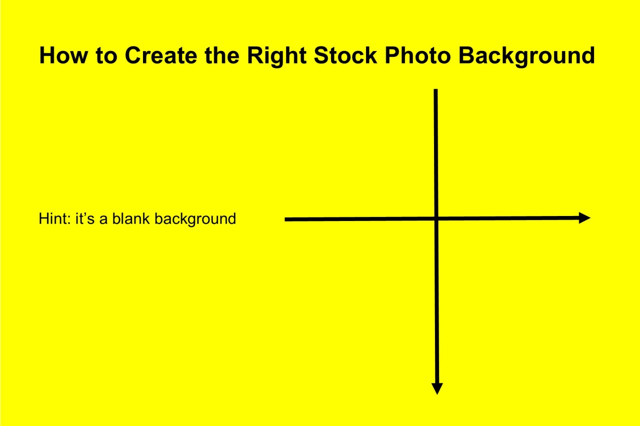 How to create the right stock photobackground