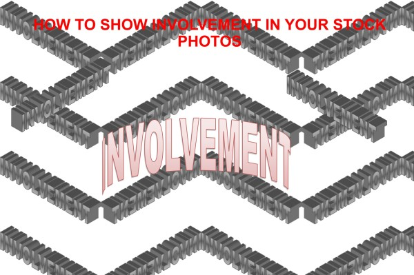 show involvement in your stock photos
