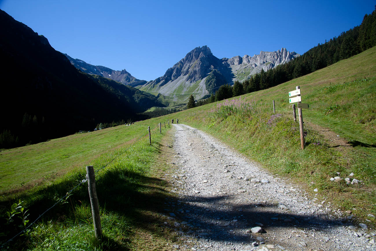 Tour de Mont Blanc Path near Les Contamines, France